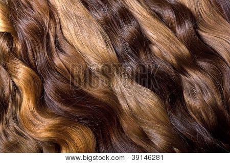 Natural human hair background