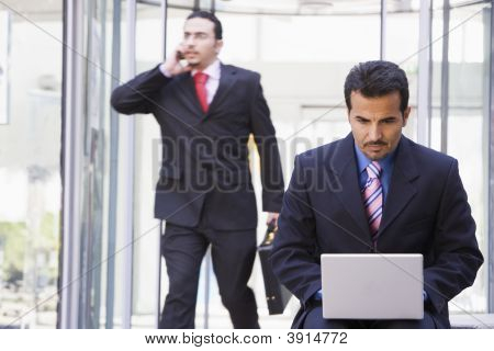 Middle Eastern  / Business With Man On Laptop