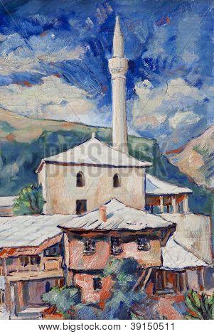 Minaret In Mostar
