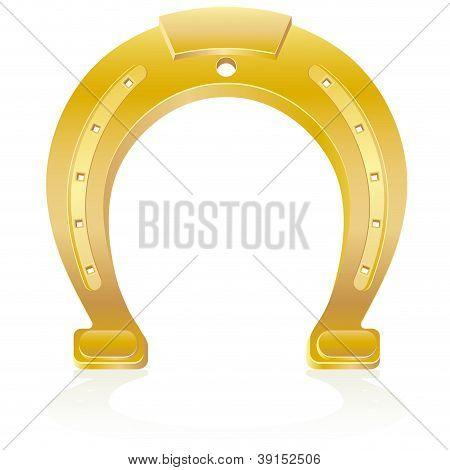 Gold Horseshoe Talisman Charm Illustration