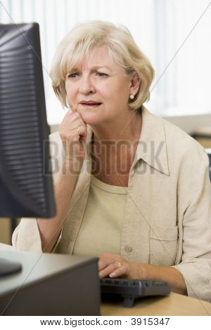 Senior Woman On Computer