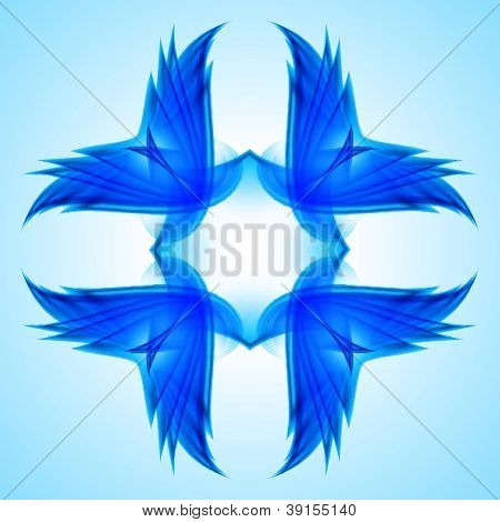 Abstraction blue symbol
