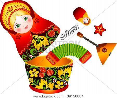 Russian tradition matryoshka doll