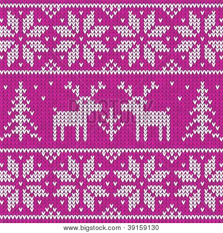 Rose sweater with deer vector ornament