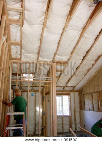 House New Construction Insulation & Drywall