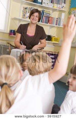 Teacher Taking Class Register
