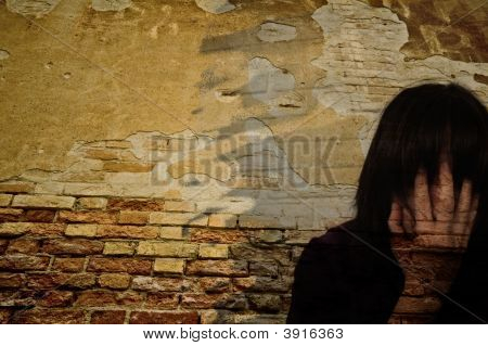 Abstract Woman Wall Face