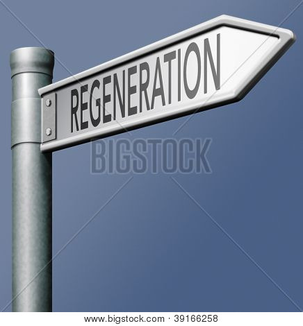 regeneration renewal or reformation start again and recover and healing spa treatment