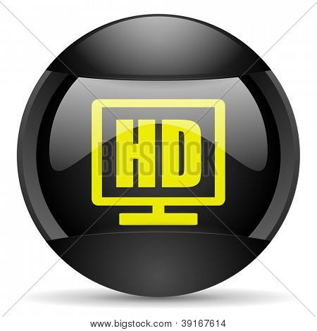 hd display round black web icon on white background