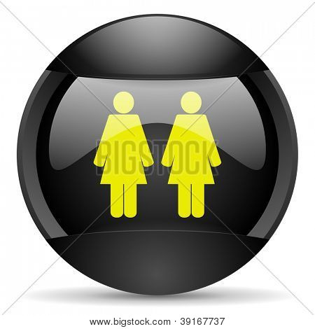 couple round black web icon on white background