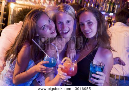 Young Women In A Bar