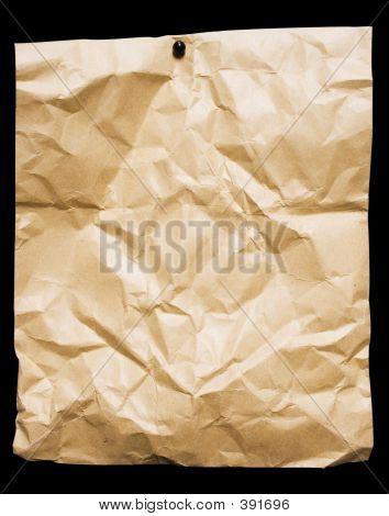 zerbröckelte packen Papier