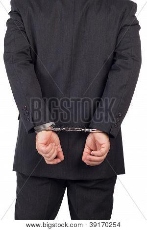 Men with a gun and handcuffs