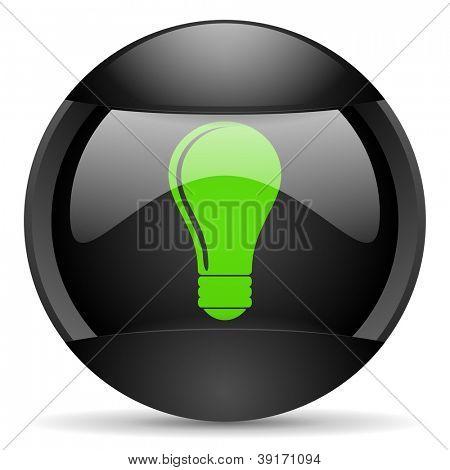 book round black web icon on white background