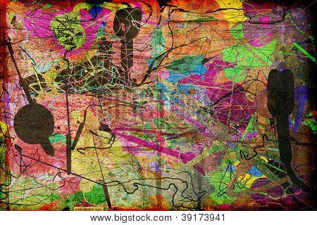 Abstract Modern Art Textured