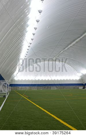Inside Sports Dome At Sideline