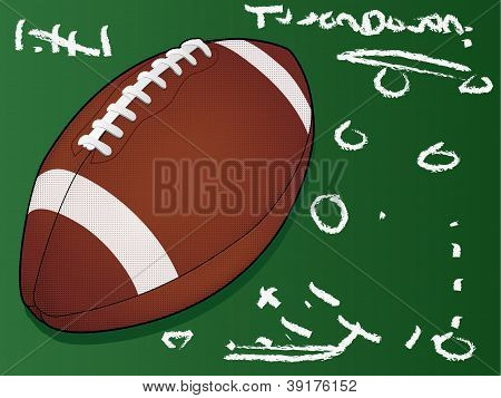 Highly detailed vector football