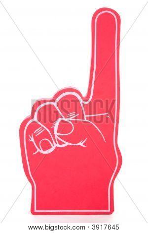Schaum finger Nr. 1