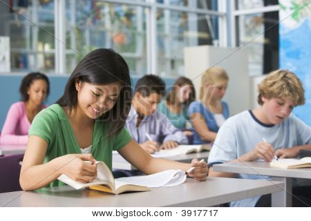 Students Studying In Geography Class