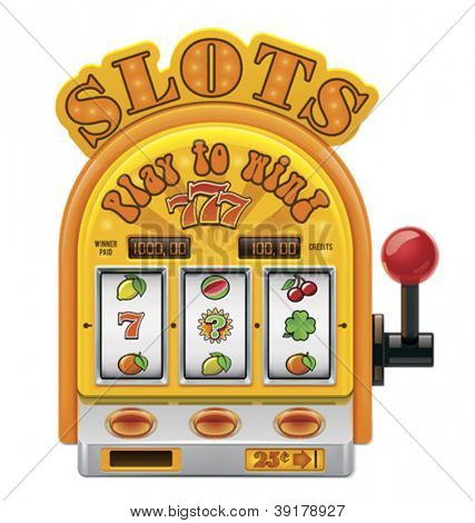 Vector slot machine icon