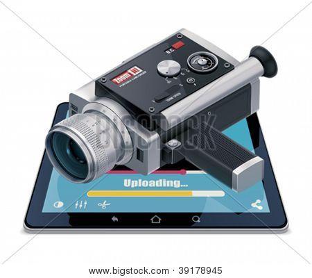 Video uploading icon