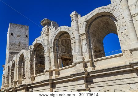 Roman Arena / Amphitheater In Arles, Provence, France