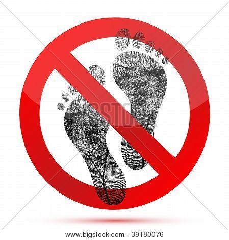 Os pés descalços não permitir