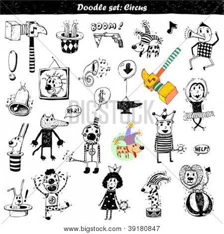 Doodle set - circus
