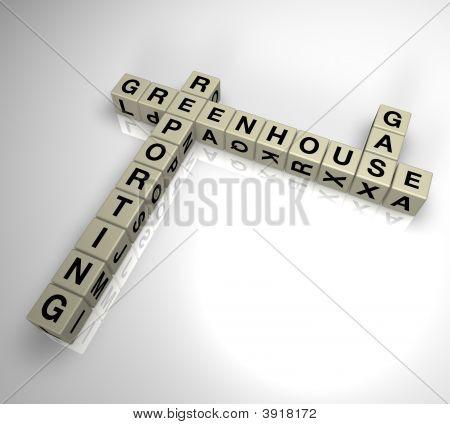 Greenhouse Gas Berichterstattung Puzzle 2
