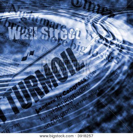 Wall Street Unruhen Konzept Bild