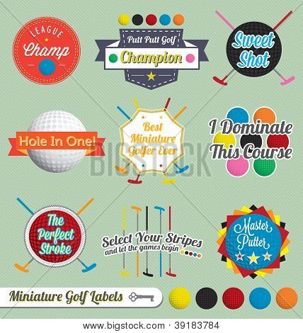 Miniature Golf Labels and Icons