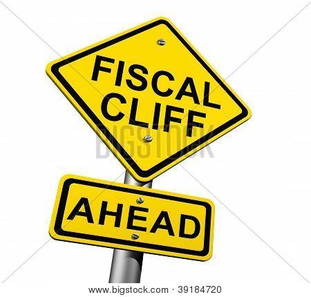 Falésia fiscal à frente