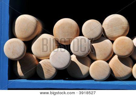 Baseball Bats On Display