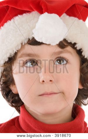 Funny Boy With Red Hat Of Christmas