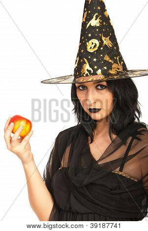 Witch Holding Apple