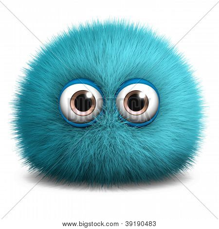 Furry Blue Monster