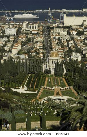 The Bahai Temple In Haifa, Israel