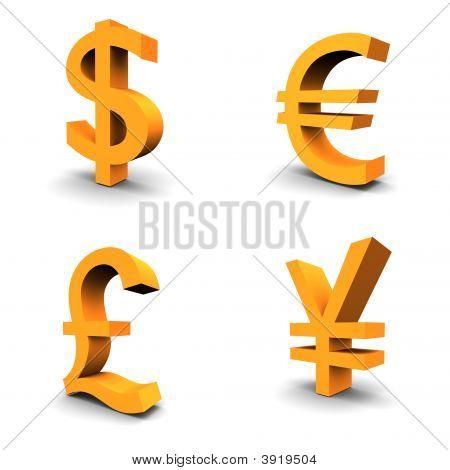 Dollar Euro Pound Yen