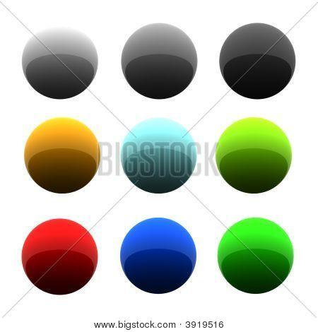 Set Of Glossy Balls