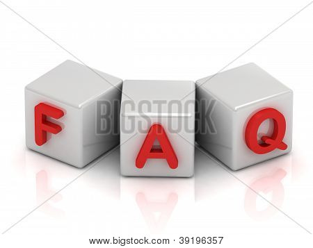 Faq Text On White Cubes