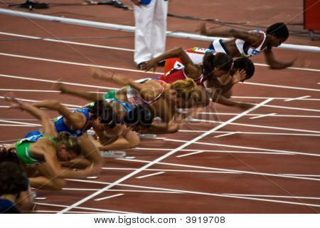 Start of womens 100m sprint stock photo amp stock images bigstock