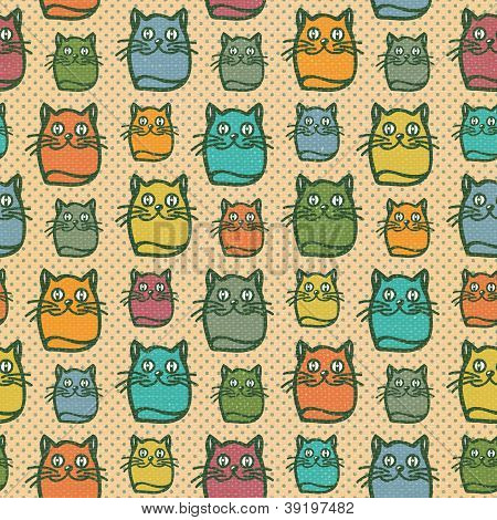 Fun cat seamless wallpaper background pattern stock photo for Fun pattern wallpaper