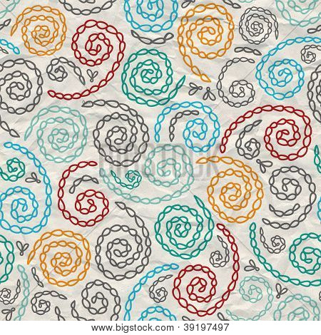 embroidery fancy rumpled paper seamless background abstract pattern
