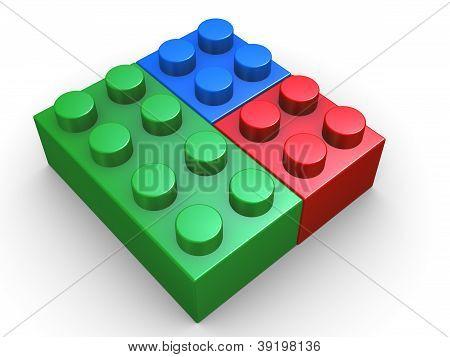 3D Rgb Toy Lego