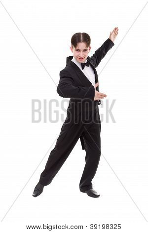 Ballroom Dancer Dressed In A Tailcoat