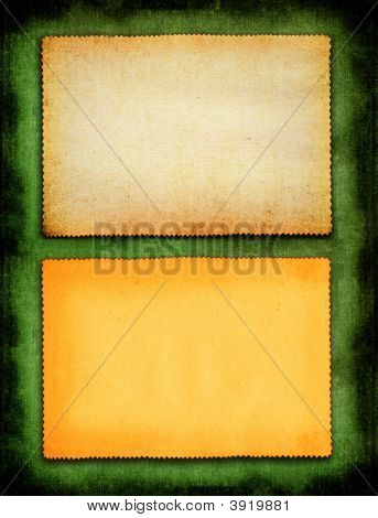 Paper On Green Background