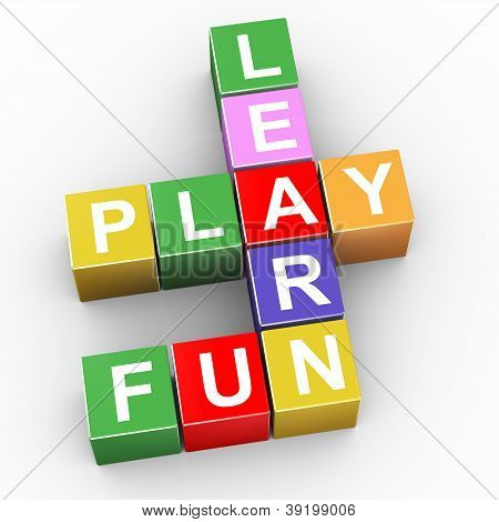 Crossword Of Learn, Play And Fun