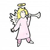 foto of angel-trumpet  - cartoon angel blowing trumpet - JPG