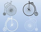 picture of penny-farthing  - Vector pattern shapes ideal for use in fabrics - JPG