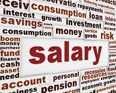 stock photo of payroll  - Salary poster design - JPG